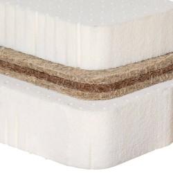 Naturmatratze mit Hanfkern Kernaufbau: 10cm Naturlatex: 3cm Hanf: 6cm Naturlatex