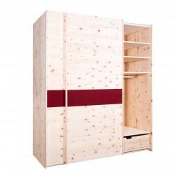 Arvenholzschrank mit Schiebetüren oder Schwebetüren