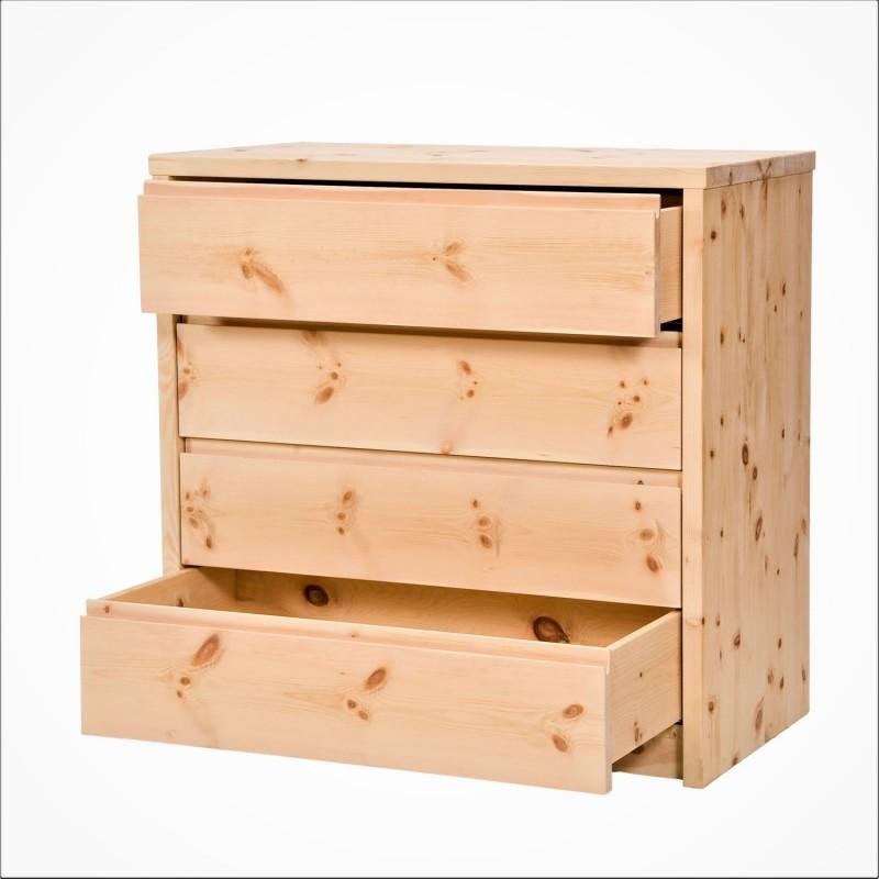 Arvenholzkommode mit 4 Laden aus reiner Zirbe