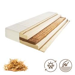 7 Zonen Naturlatexmatratze 20 cm hoch für Seiten- Bauch und Rückenschläfer geeignet.  Naturmatratze mit Bioroggenstrohkern
