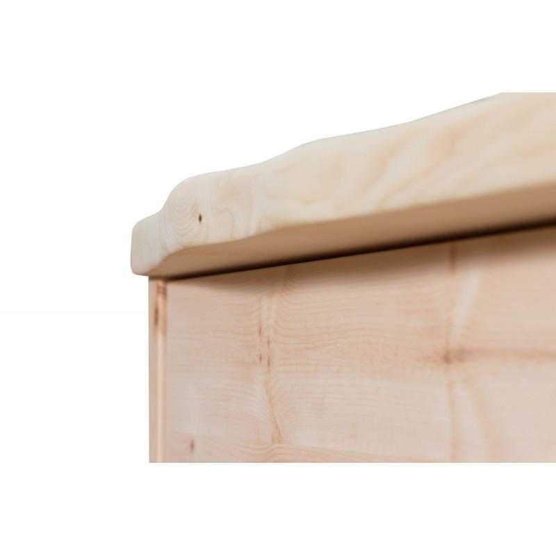 Zirbenholzkommode mit rechteckigem Rustikalem Design mit 4 Laden
