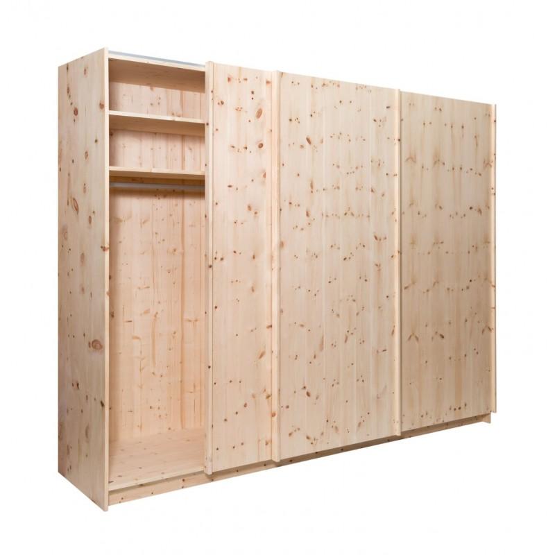 Arvenholzschrank aus luftgetrocknetem Zirbenholz