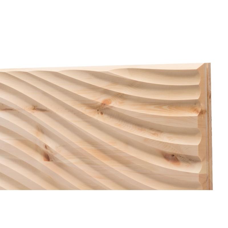 Zirbenwand.Am Bild zusehen das moderne Wandpaneele aus Zirbe von Schröcker Tischlerei. Die sehr moderne Zirbenwand.