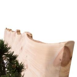 Kopfteil des Zirbenbettes mit Naturkante | Top Qualität aus Österrreich
