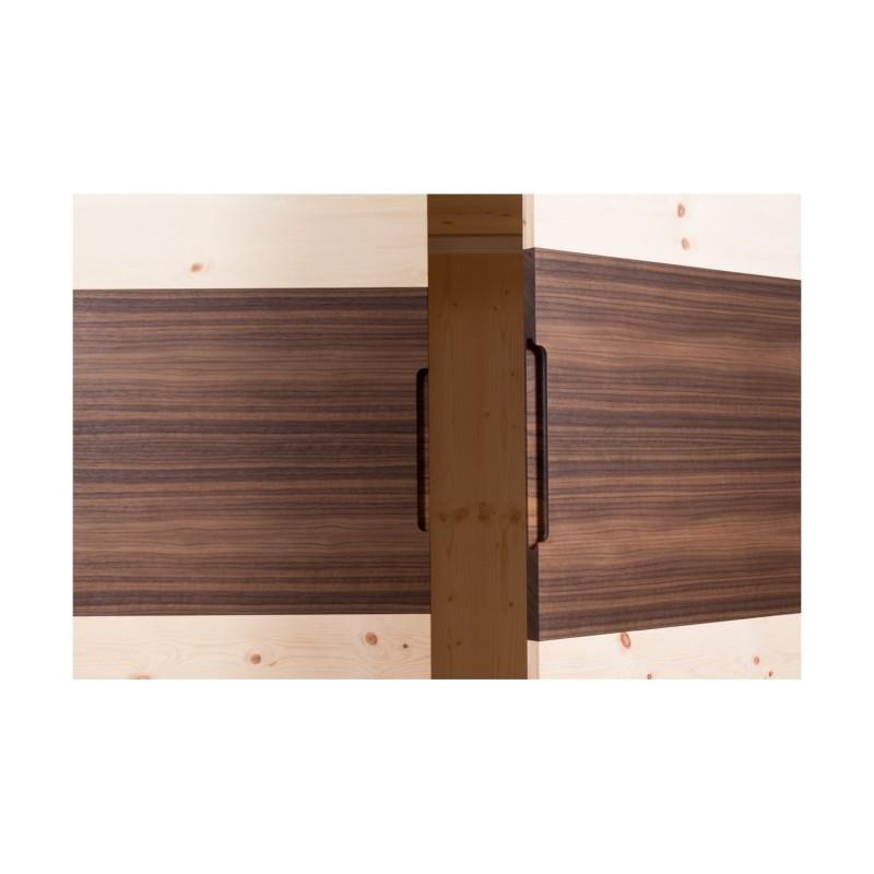 Am Bild der Zirbenschranl Walnut aus Zirbenholz aus den Österreichischen Alpen.