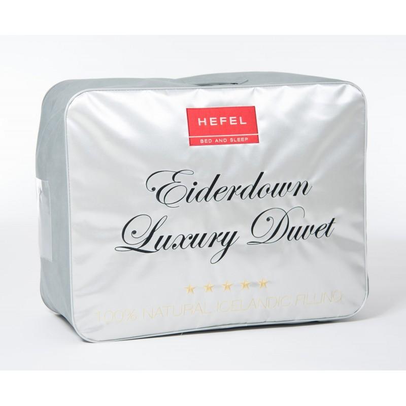 Die Luxus Daunendecke gefüllt mit reinen Eiderdaunen.